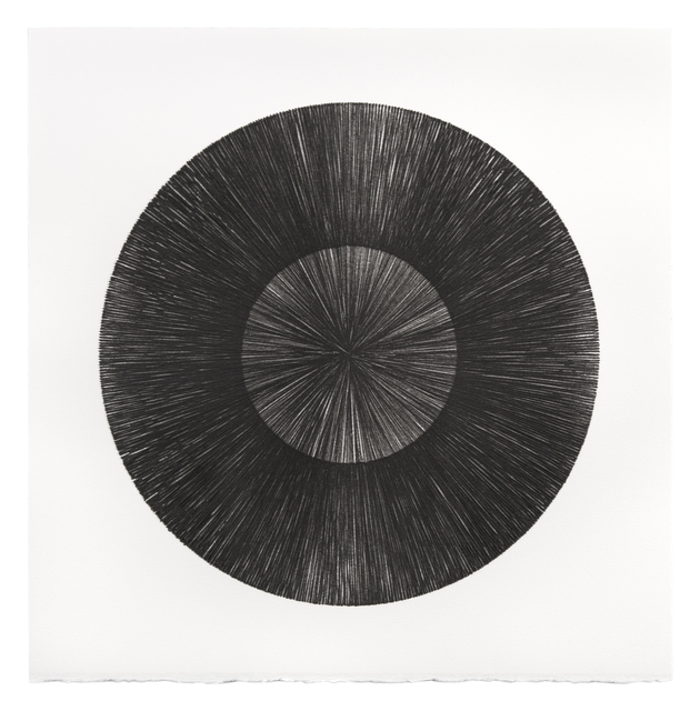 Mel Douglas, 'FIELD LINES VI', 2021, Drawing, Collage or other Work on Paper, Glass drawing on paper, Traver Gallery