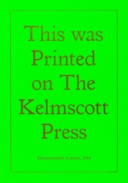 Printed on the Kelmscott Press