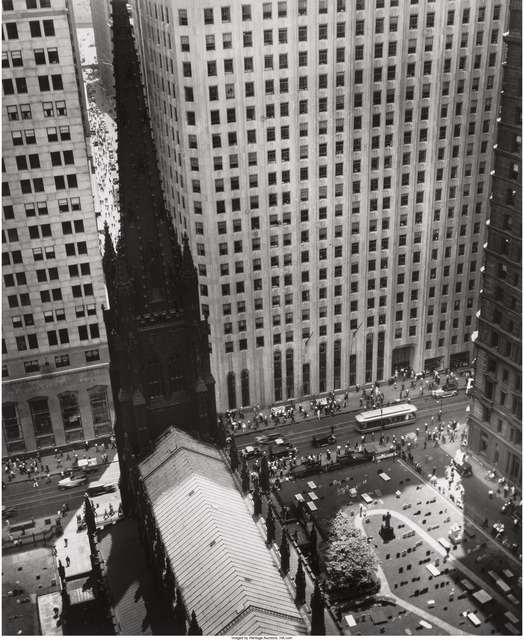 Berenice Abbott, 'Trinity Church and Wall Street Towers', 1934, Heritage Auctions