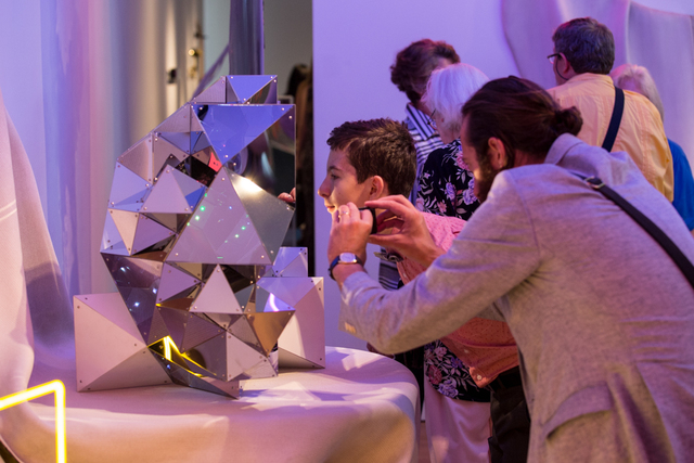 Aranda\Lasch, 'Primitives (This Could be an Extraordinary Find)!', 2013, Design/Decorative Art, Stainless Steel, acrylic mirror, LEDs, microcontrollers, Museum of Arts and Design