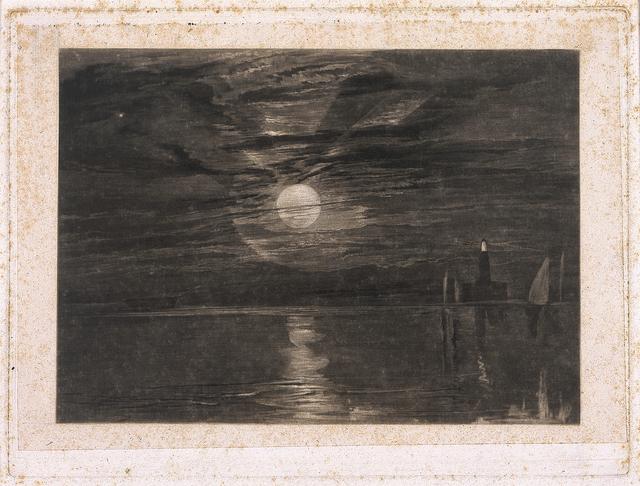 J. M. W. Turner, 'Shields Lighthouse', 1825, Blanton Museum of Art