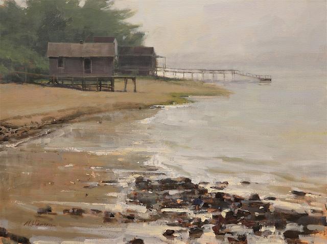 , 'Quiet Back Bay,' 2018, Addison Art Gallery