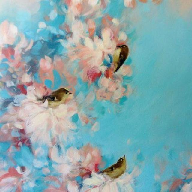 , 'Five Goldcrest in Blue,' 2019, Art5 Gallery