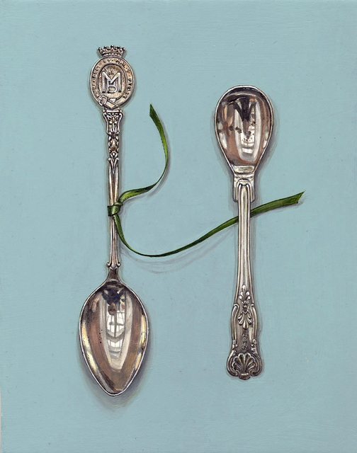 , 'Small Spoons with Green Ribbon,' 2018, Hybrid Gallery