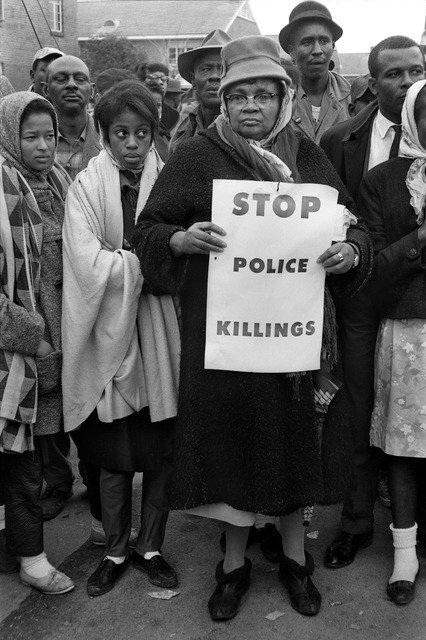 ", ' ""Stop Police Killings"", Selma March, 1965,' 1965, Monroe Gallery of Photography"