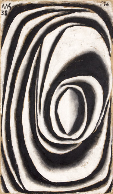 , 'Forma abstracta en espiral modelada en blanco y negro (Spiral abstract form modeled in white and black),' 1938, The Museum of Modern Art