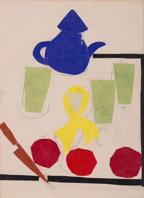 , 'Still life with - paper collage Kettle,' 1965, Vadehra Art Gallery