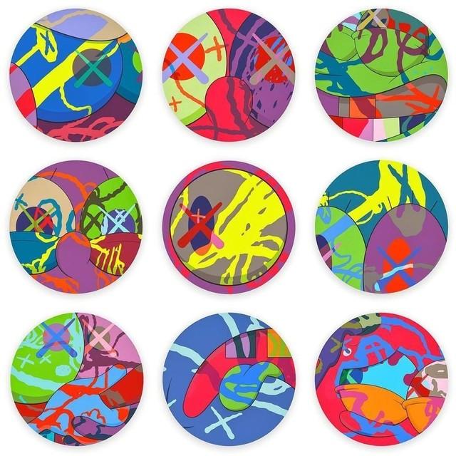 KAWS, 'The News (Complete portfolio of nine screenprints)', 2018, Print, Screenprints in colors, Zeit Contemporary Art