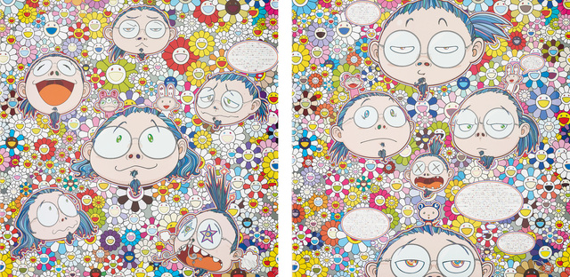 Takashi Murakami, 'The Artist's Agony and Ecstasy; and Self-Portrait of the Manifold Worries of a Manifoldly Distressed Artist', 2012, Phillips