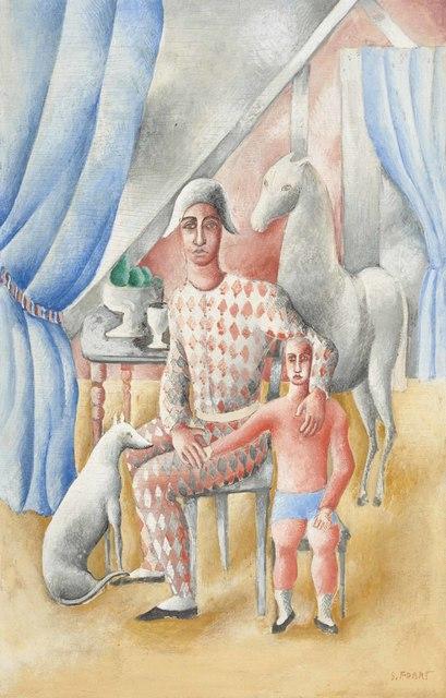 Serge Férat, 'Arlequin et enfant', 1924-1926, Fairhead Fine Art Limited