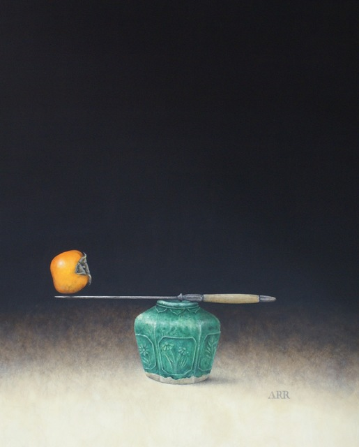 , 'Green Ginger Jar with Knife and Persimmon,' 2019, Quantum Contemporary Art