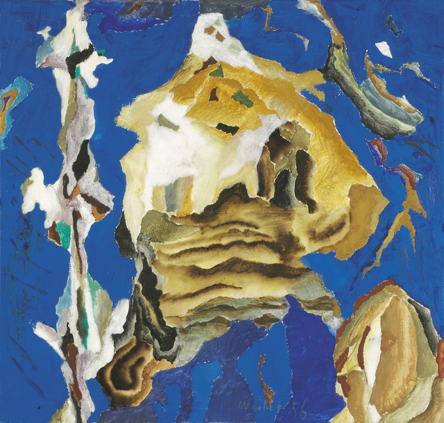 , 'Composition with Blue and Brown,' 1956, Galerie Bei Der Albertina Zetter