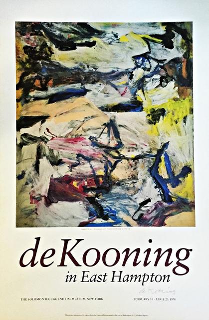 , 'de KOONING IN EAST HAMPTON (Signed),' 1978, Alpha 137 Gallery