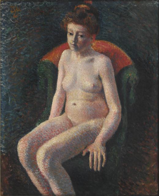 , 'Nu assis au fauteuil vert,' 1865-1919, Waterhouse & Dodd