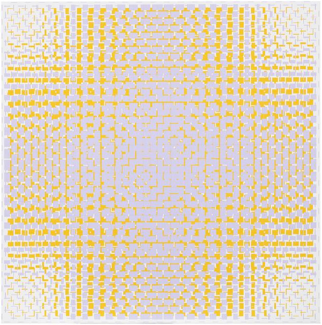 , 'lilac-yellow,' 2016, Galerie Denise René