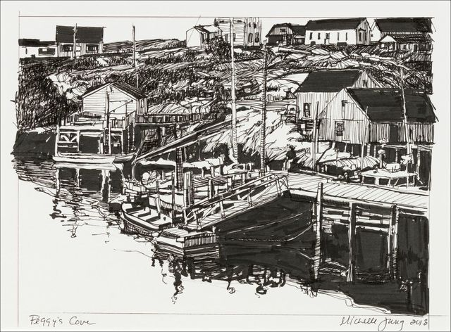 , 'Peggy's Cove ~ Nova Scotia,' 2018, The Guild of Boston Artists