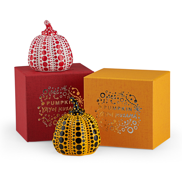 Yayoi Kusama, 'Pumpkin (Red & Yellow)', 2013, Other, Two painted cast resin multiples (each in original box), Rago/Wright