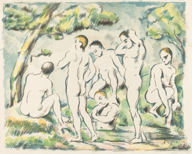 Paul Cézanne, 'The Bathers (Small Plate)', 1897, National Gallery of Art, Washington, D.C.