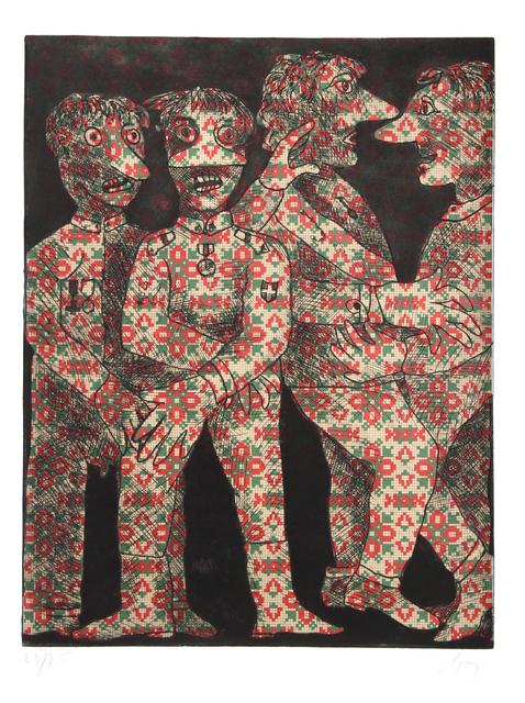 Enrico Baj, 'Untitled - Four Dancing Military Men', ca. 1960, RoGallery