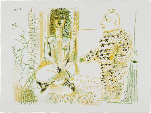 Pablo Picasso, 'Le peintre et son modèle (The Painter and his Model)', 1954, Phillips