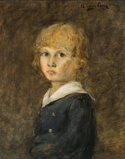 Albin Egger-Lienz, 'Portrait of a boy', 1888, Galerie Kovacek & Zetter