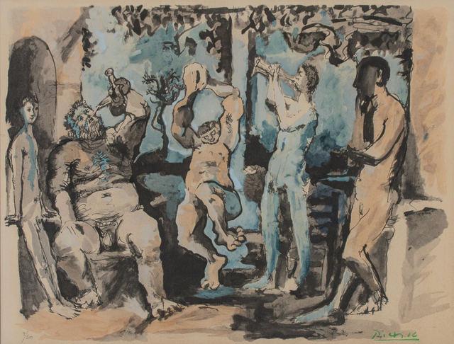 Pablo Picasso, 'Bacchanale, from La Flute Double', 1967, WOLFS