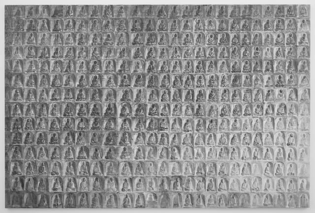 , 'Rock Carving of Thousand Buddhas,' 2013, James Cohan