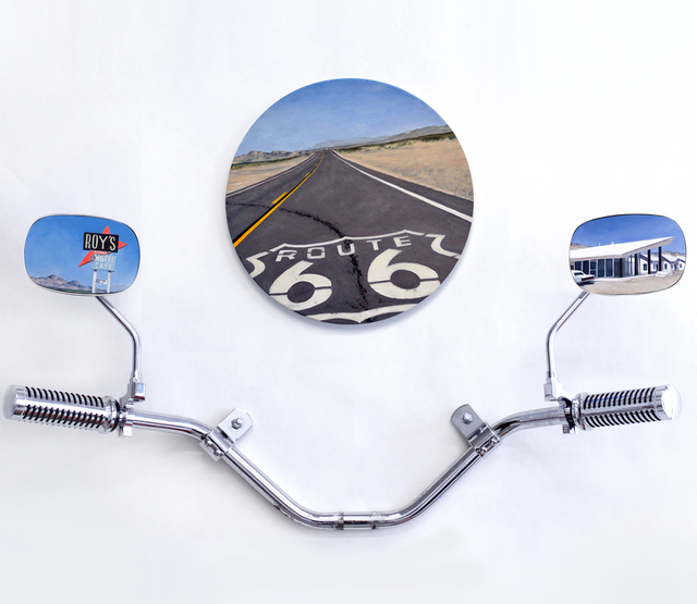 , 'Amboy, Route 66 (triptych),' 2018, Lyons Wier Gallery