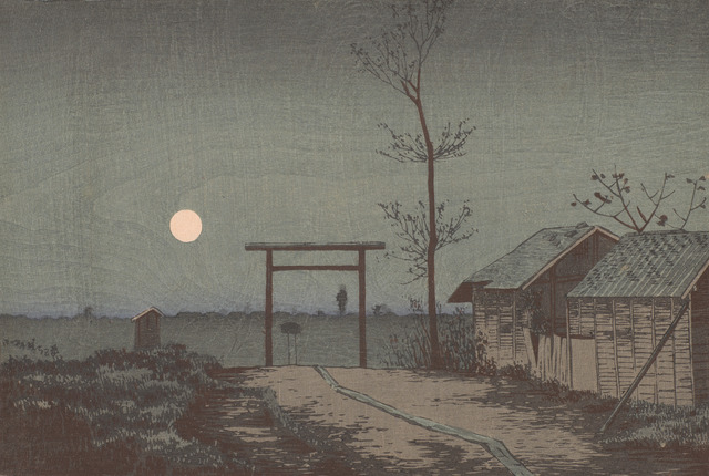 , 'Before Tarō Inari Shrine at the Asakusa Ricefields,' Meiji era-1881, Smithsonian Freer and Sackler Galleries