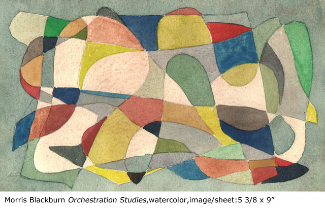 , 'Orchestration (study, green),' 1947, Dolan/Maxwell