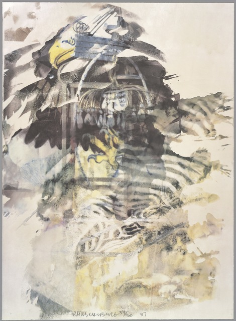 Robert Rauschenberg, 'Caucus, from the Leo Castelli 90th Birthday portfolio', 1997, Print, Offset lithograph, San Francisco Museum of Modern Art (SFMOMA)