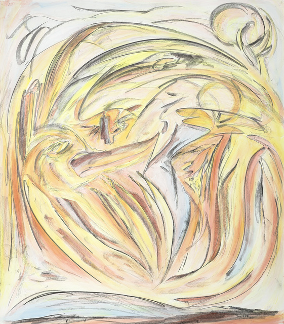 Joseph Sánchez, 'Ancestors Talking', 2018, Painting, Conte & acrylic on rice paper, Kinsman Robinson Galleries