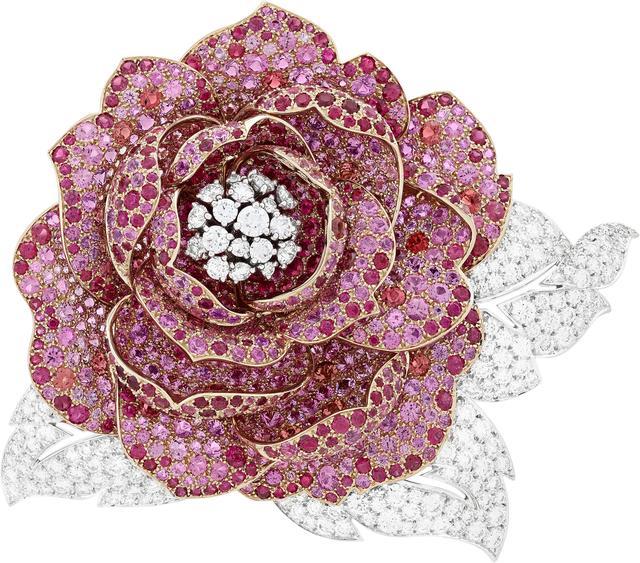 , 'Pivoine clip. Unique piece, High Jewelry Collection,' 2017, Van Cleef & Arpels
