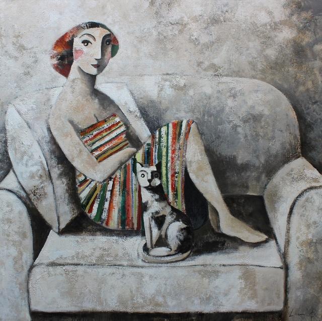 , 'Cat and Lines,' 2015, GALERIA JORDI BARNADAS