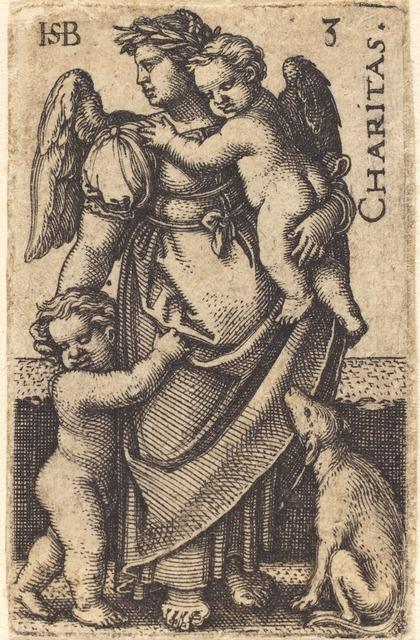 Sebald Beham, 'Charitas', Print, Engraving, National Gallery of Art, Washington, D.C.