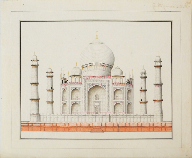 , 'Architectural Drawings - Western view of the Taj,' , Swaraj Art Archive