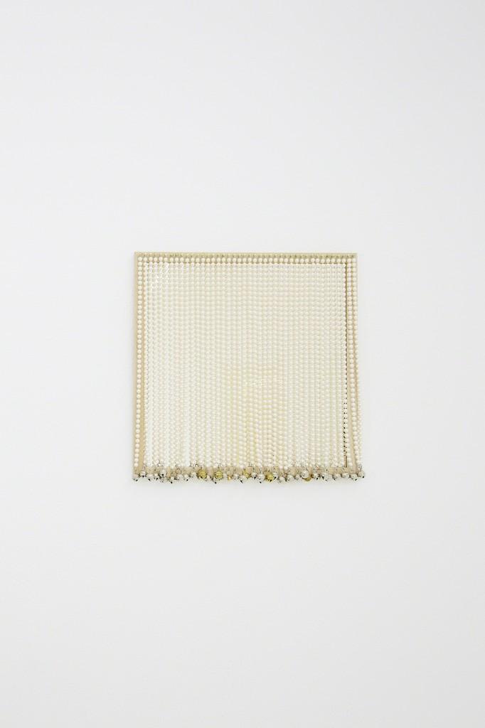 Ligia Dias COCO (L'origine du Monde) 2018  Mirror, crystal, brass, wood 40 x 40 cm Edition of 5