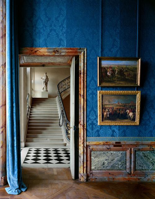 , 'Foreground: Salle les campagnes militaires et le decor des residences royales, (93) ANR.02.011, background: Escalier Questel ANR.02.012, salles du XVII, Aile du Nord - 1er etage (RP.Vers.v1p149),' 1985, Galerie de Bellefeuille
