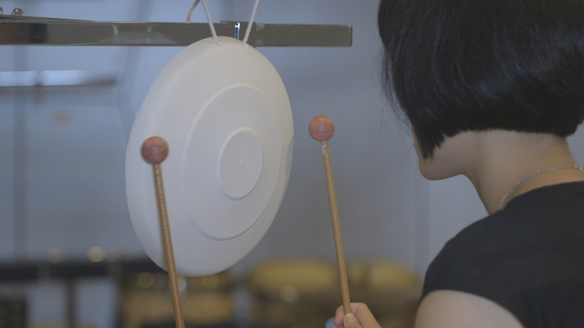 , 'Plaster Gong: Percussion Performance,' 2017, TKG+