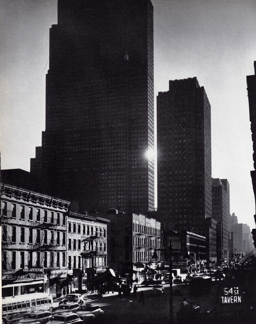Andreas Feininger, 'New York City, (54th St. Tavern sign in foreground), NY', 1948, Atlas Gallery