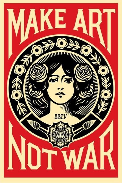 Shepard Fairey, 'Make Art Not War', 2015, Hidden