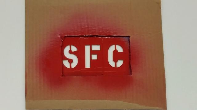 , 'SFC Stencil,' 2015, San Francisco Cinematheque