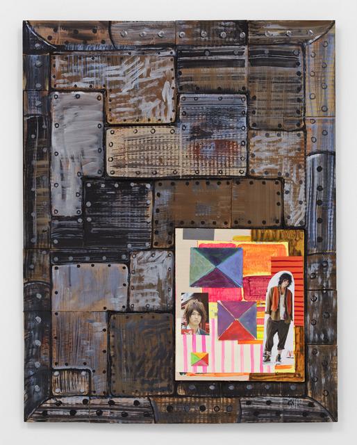 Richard Hawkins, '13 Crypts (#9)', 2011, Mixed Media, Collage, acrylic and cardboard on wood, Richard Telles