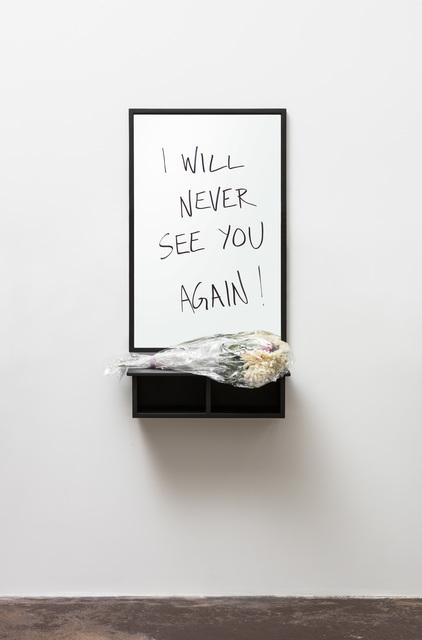 , 'I will never see you again,' 2009-2017, Galleri Nicolai Wallner