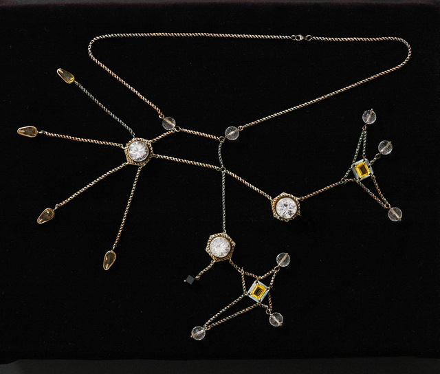 , 'Cluster: AK-47 (Liver wound/sulfobromophthalein collapsing necklace),' 2005-2006, Contemporary Arts Museum Houston