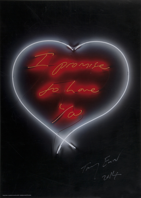 Tracey Emin, 'I Promise To Love You', 2014, Julien's Auctions