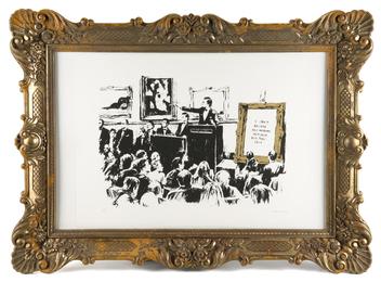 Banksy, 'Morons (White & Gold),' 2006, Julien's Auctions: Street Art Now February 2016