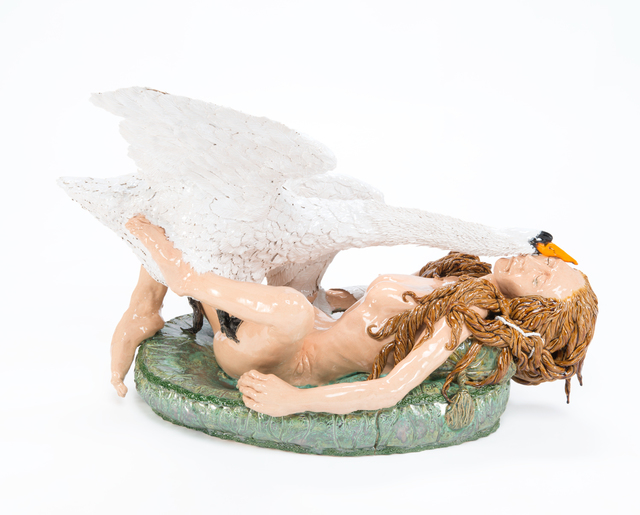 , 'Leda and the Swan,' 2016, James Freeman Gallery