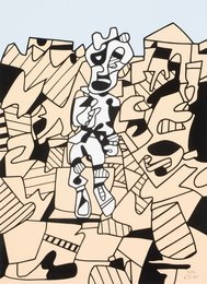 Jean Dubuffet, 'Territoire et paysan,' 1975, Heritage Auctions: Holiday Prints & Multiples Sale