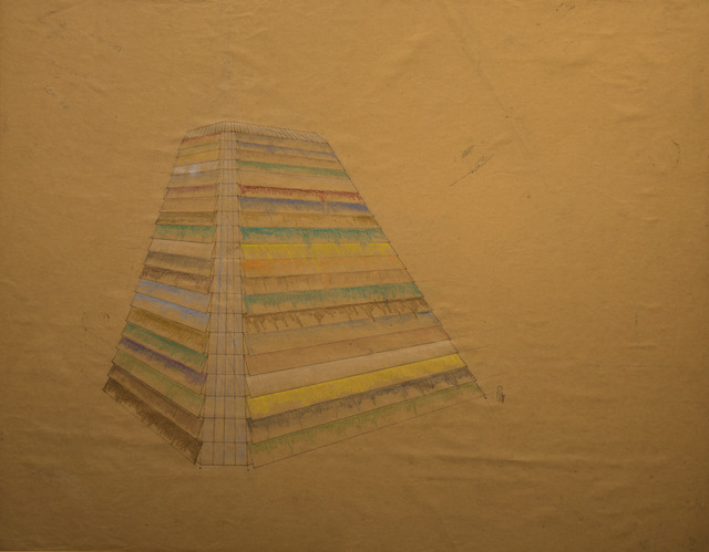 Tery Fugate-Wilcox, 'Coloring concrete cone', 1980, Drawing, Collage or other Work on Paper, Colored pencil and ink, BCB Art